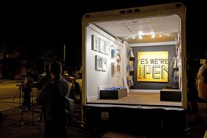 Galeria móvel em Chicago. Foto de Ben Husmann/Flickr