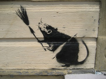 Grafite de Bansky - Foto de Infrogmation via Flickr