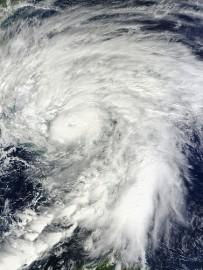 Quase-furacão Sandy em imagem da Nasa/Flickr