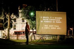 Exibição do documentário em Belém (PA) (Imagem: Mídia Ninja/ Flickr)