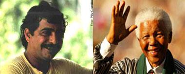 Chico Mendes e Nelson Mandela (Fotos de Jonas Banhos e Debris2008 via Flickr)
