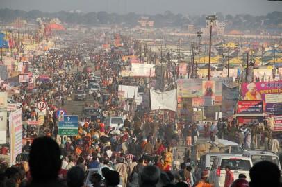 Cena de rua em Allahabad, norte da Índia. Foto de Seba Della e Sole Bosslo/Flickr