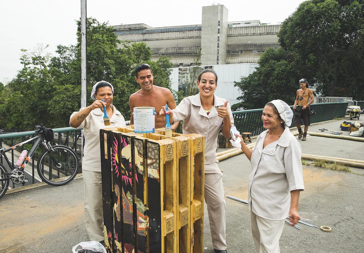 PassaNela, intervenção em viaduto sobre Avenida Rebouças, em São Paulo