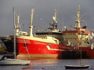 Traineira no porto de Killybegs, na Irlanda. Foto de Nick/Flickr