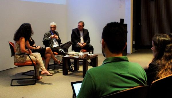 """Panelistas do 3º evento do ciclo de debates """"Bode na Sala"""", na FGV-SP (foto: Milene Fukuda/FGVces)"""