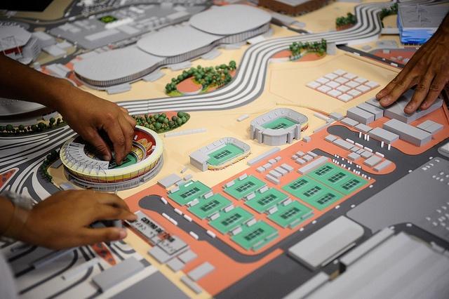 Maquete do Parque Olímpico do Rio de Janeiro (foto: Tomaz Silva/Agência Brasil)