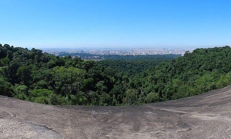 Vista panorâmica da cidade de São Paulo a partir da Pedra Grande, no Parque Estadual da Cantareira (crédito: Euripedesjr/Wikimedia/Creative Commons)