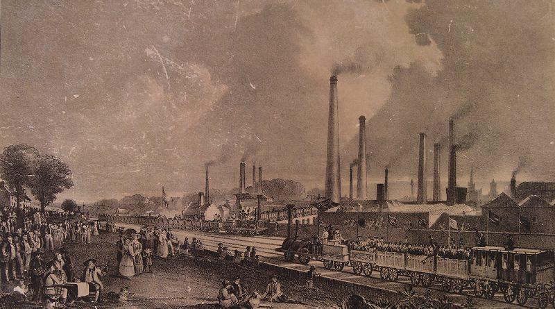 Segundo estudo, temperaturas começaram a subir na Terra a partir dos anos 1830, em decorrência do começo da atividade industrial no Ocidente (pintura de D. O. Hill, Domínio Público)