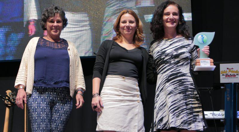 Magali Cabral, Bel Brunharo e Amália Safatle recebem o Prêmio Chico Mendes de Jornalismo Socioambiental - 2016 /  Imagem: Borelli Fotos