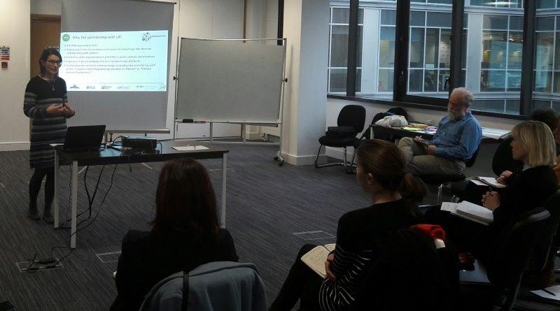 Encontros e workshops no Reino Unido trouxeram insumos para apoiar o desenho e a implementação de uma plataforma brasileira sobre adaptação à mudança do clima (divulgação GVces)