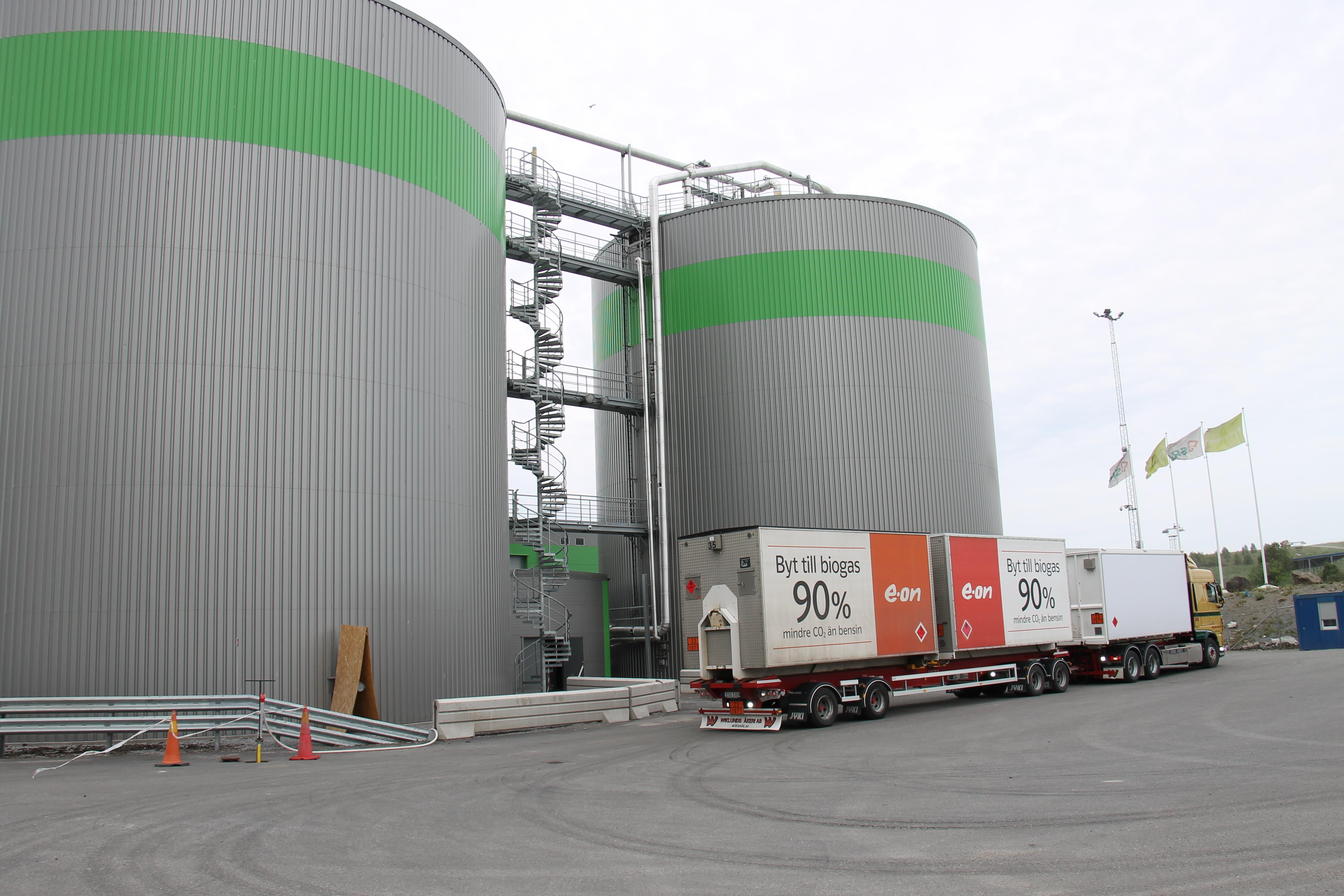 Os biodigestores da Scandinavian Biogas são capazes de processar 70 mil toneladas de resíduos alimentares para gerar biometano para ônibus, carros e caminhões