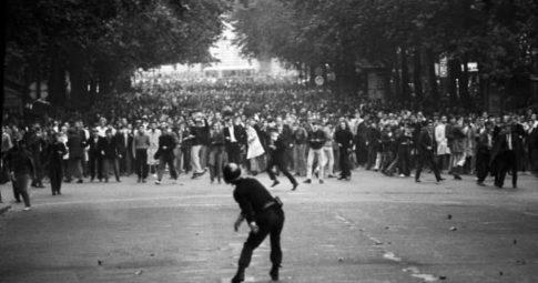 Manifestação em Maio de 68