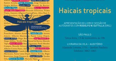 """Lançamento da obra """"Haicais Tropicais"""""""
