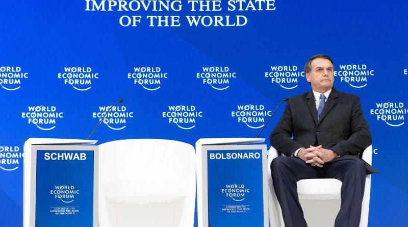 """Fórum / Christian Clavadetscher_ """"Discurso Especial de Jair Bolsonaro, Presidente do Brasil"""" na Reunião Anual de 2019 do Fórum Econômico Mundial em Davos, 22 de janeiro de 2018. Centro de Congressos – Salão de Congressos."""
