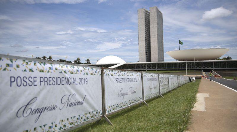 José Cruz/Agência Brasil _ Esplanada dos Ministérios fechada com  grades, para posse do presidente eleito Jair Bolsonaro